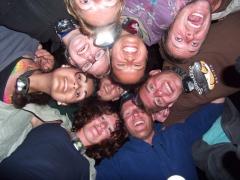 Group shot of the entertainers from Team Nala; Okavango Delta