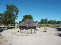A traditional dwelling in the Okavango Delta