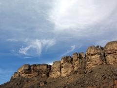 Passing through the scenic gorge in Arak