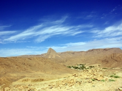 It takes about four hours to drive from Tamanrasset to Assekrem, with the landscape in the beginning of the trip looking like this