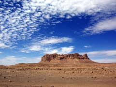It almost looks like the center of an extinct volcano; near Tamanrasset