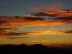 Amazingly colorful sunrise over Assekrem
