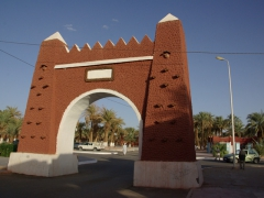 One of four gates that lead to the main square of Adrar