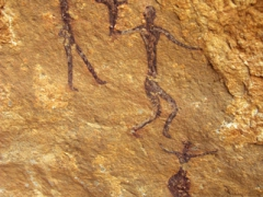 Rock art with nice depictions of people; south of In Salah