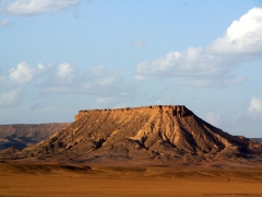 Sunset is really nice on the Sahara landscape; south of in Salah