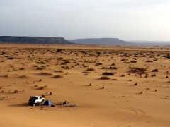 Our second campsite in the Sahara. Sleeping under the stars was awesome; Tiguelguemine