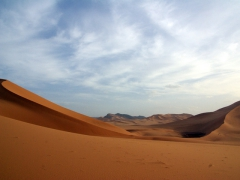 Our campsite on the 3rd night of camping in the Sahara; Mhajeba sand dunes