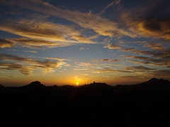 Sunset over Assekrem