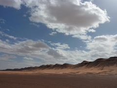 We neared Tiguelguemine where we had been told a guelta (desert water point) was to be found