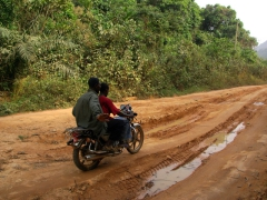 Cameroon's dirt roads are notorious during rainy season when vehicles can get severely bogged down