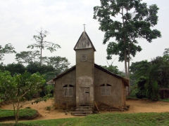 A weathered church; near Bakeba