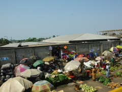 Market scene; near Limbe