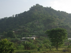 View of hilly Buéa, the starting point for our Mt Cameroon trek