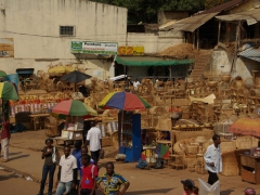 Furniture sets for sale by the street side; Yaounde