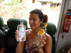"Becky showcases quality stuff, ""Mombay Sapphire"" and ""Bettons"" gin; Ekok"