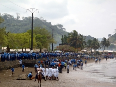 Hundreds of children get ready for Youth Day parades in Limbe