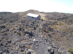 The steepest section of our Mt Cameroon trek, between the intermediary hut and Hut 2