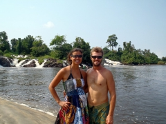 Posing at Lobe Waterfall; Kribi