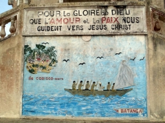 Detail of a mural on a Kribi Cathedral