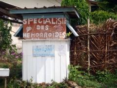 Hemorrhoid specialist booth; Kribi