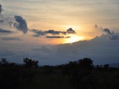 Sunset at our Nyanga bush camp