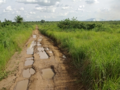 Road conditions once we crossed the border at Doussala