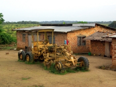 This tractor has seen better days; Doussala
