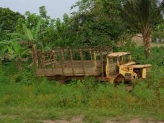 An abandoned truck; Doussala
