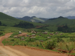 The rolling hills of Congo's interior were frequently dotted with small villages like this one