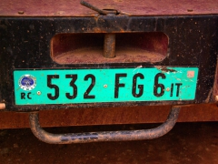 Republic of Congo license plate
