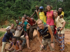 Dowelly, Bree, Mattie, Becky and Lars get amongst it with fellow Congolese truckers