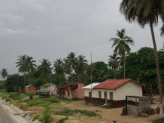 A row of neat houses; enroute to Pointe Noire