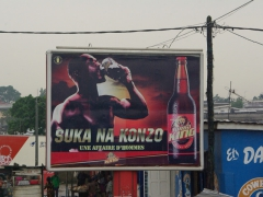 "Billboard for Congo's tastiest beer ""Turbo King"""
