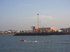 View of the Djiboutian fish port