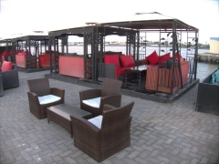 Waterfront area where locals flock to smoke a sheesha/hookah at night