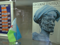 A small display at the tourism bureau