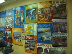 Colorful tourism posters of Djibouti