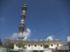 This mosque's minaret can be seen from quite a distance; near Djibouti Port