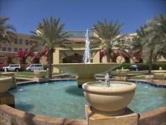 Entranceway to the posh Djibouti Palace Kempinski hotel