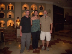 Linking up with our friend Steve in the lobby of the Kempinski Hotel
