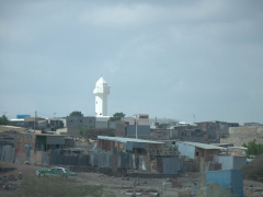 Mosques always dominate the skyline in every village or town