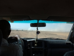 Kamal (our driver) expertly navigating us across the Grand Barra Desert