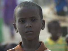 Djiboutian boy with a very serious pose