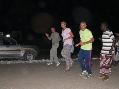 Becky joined several other French tourists who were selected to join the Afar men in their dance