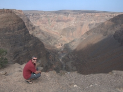 Robby at the Djibouti Grand Canyon, locally known as the Canyon de Dimbya