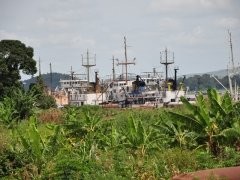 Boats on the Congo River