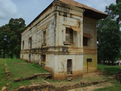 An old colonial era building in Muanda