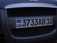 Democratic Republic of Congo license plate