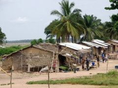 Snapshot of a typical Congolese village