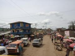 Busy Matadi street scene